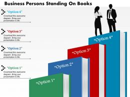 0814 Business consulting Diagram Persons Standing On Books Powerpoint Slide Template