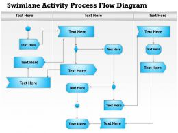 0814 Business consulting Diagram Swimlane Activity Process Flow Diagram Powerpoint Slide Template