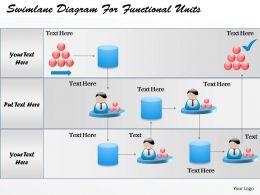 swimlanes powerpoint templates and presentation slide diagrams, Modern powerpoint