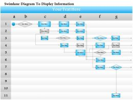 0814 Business consulting Diagram Swimlane Diagram To Display Information Powerpoint Slide Template
