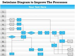 0814 Business consulting Diagram Swimlane Diagram to Improve The Processes Powerpoint Slide Template
