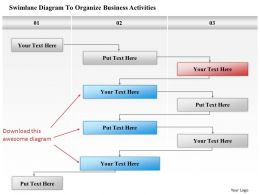 0814 Business consulting Diagram Swimlane Diagram To Organize Business Activities Powerpoint Slide Template