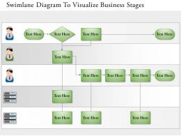 0814 Business consulting Diagram Swimlane Diagram To Visualize Business Stages Powerpoint Slide Template