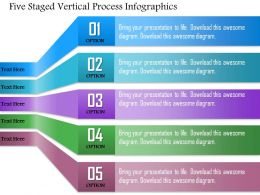 0814 Business Consulting Five Staged Vertical Process Infographics Powerpoint Slide Template