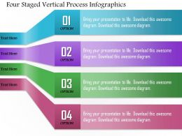 0814 Business Consulting Four Staged Vertical Process Infographics Powerpoint Slide Template