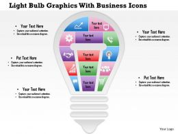 0814 Business Consulting Light Bulb Graphics With Business Icons PowerPoint Slide Template