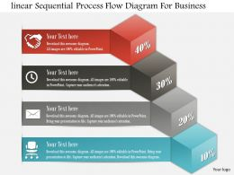 0814 Business Consulting Linear Sequential Process Flow Diagram For Business Powerpoint Slide Template
