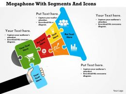 0814 Business Consulting Megaphone With Segments And Icons PowerPoint Slide Template