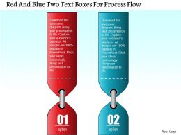 0814 Business Consulting Red And Blue Two Text Boxes For Process Flow Powerpoint Slide Template
