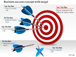 0814 Business Success Concept With Target Dart And Arrows Image Graphics For Powerpoint