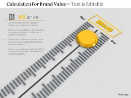 0814 Calculation For Brand Value With Max Value Meter Image Graphics For Powerpoint