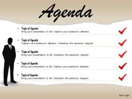 0814 Checklist For Business Agenda With 3d Man