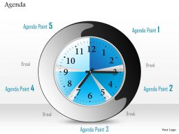 0814 Clock To Show Five Different Agendas With Breaks