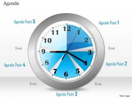 0814 Clock To Show Time Management For Agenda Display