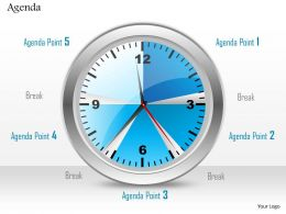 0814 Clock With Five Different Agenda Points
