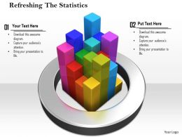 0814 Colored Bars Inside The Circle For Business Statistics Image Graphics For Powerpoint