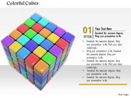 0814 Colorful Cubes Making Square For Team Representation Image Graphics For Powerpoint