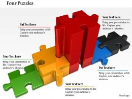 0814 Colorful Puzzle Design For Winner Podium Image Graphics For Powerpoint