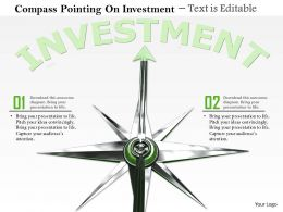 0814 Compass With Arrow Pointing On Investment Image Graphics For Powerpoint