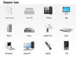 0814 Computer Icons Imac RAID Mac Pro Server Satellite Switch Workstation Part 2 Ppt Slides