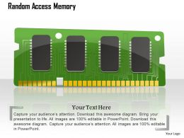 0814 Computer RAM Random Access Memory Card Icon Storage Device Ppt Slides