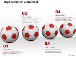 0814 Conceptual Image Of Soccer Balls On White Background Image Graphics For Powerpoint