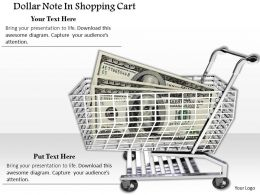 0814 Dollar Note In Shopping Cart Image Graphics For Powerpoint