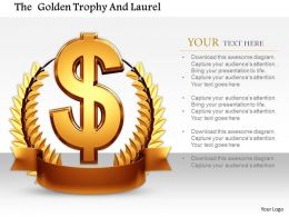0814 Dollar Symbol On Laurel Trophy For Success Image Graphics For Powerpoint