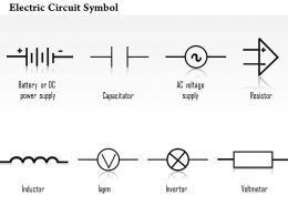 0814_electric_circuit_symbol_diagrams_capacitor_resistor_inductor_invertor_voltmeter_ppt_slides_Slide01