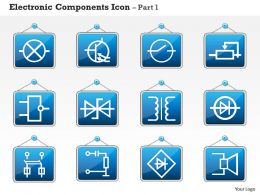 0814 Electronic Components Icon Part 1 Ppt Slides
