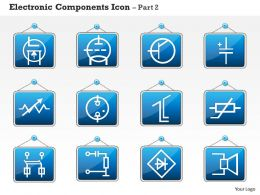 0814 Electronic Components Icon Part 2 Ppt Slides