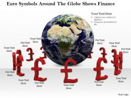 0814 Euro Symbols Around The Globe Shows Finance Image Graphics For Powerpoint