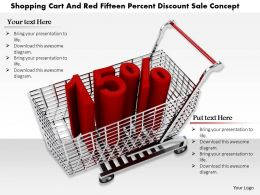 0814 Fifteen Percent Discount Graphic In Shopping Cart Image Graphics For Powerpoint