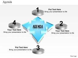 0814 Four Staged Agenda With Text Boxes