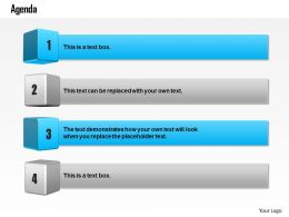 0814 Four Staged Text Boxes For Displaying Business Agenda