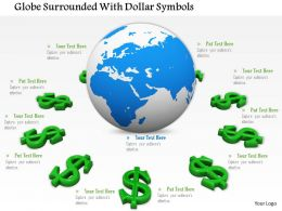 0814 Globe Surrounded With Dollar Symbols Image Graphics For Powerpoint