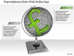 0814 Globe With Pound Symbol For Finance And Marketing Image Graphics For Powerpoint
