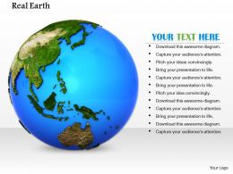 0814 Glossy Earth Globe For Green Environment Image Graphics For Powerpoint
