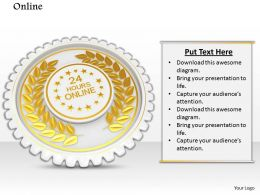 0814 Golden Batch Symbol With Text Box Image Graphics For Powerpoint