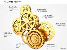0814 Golden Gears For Steps Of Process Control Image Graphics For Powerpoint