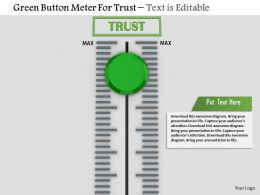 0814 Green Button Meter For Trust Image Graphics For Powerpoint