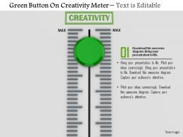 0814 Green Button On Creativity Meter Image Graphics For Powerpoint