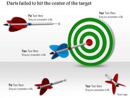0814 Green Dart With Two Red And One Blue Arrows To Hit Target Image Graphics For Powerpoint