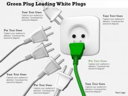 0814 Green Plug Leading White Plugs Image Graphics For Powerpoint