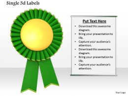 0814 Green Ribbon Batch For Championship Graphic For Powerpoint