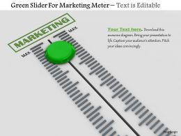 0814 Green Slider For Marketing Meter Image Graphics For Powerpoint