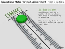 0814 Green Slider Meter For Trust Measurement Image Graphics For Powerpoint