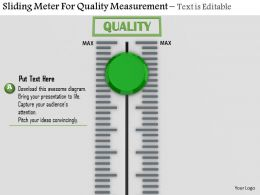 0814 Green Sliding Meter For Quality Measurement Image Graphics For Powerpoint