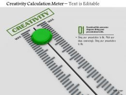 0814 Green Value Button On Creativity Calculation Meter Image Graphics For Powerpoint
