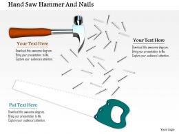 0814 Hammer With Handsaw And Nails Image Graphics For Powerpoint